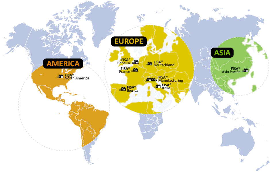 FISA GROUP WORLD MAP