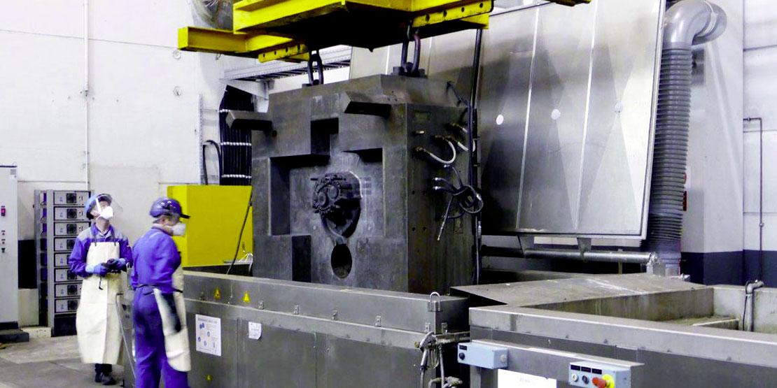 Fonderia - impronta di stampi in pressofusione di alluminio per componenti automobilistici