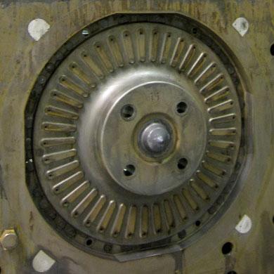 Foundry caja de machos cavidad para la fabricacion de embrague discos ANTES limpieza