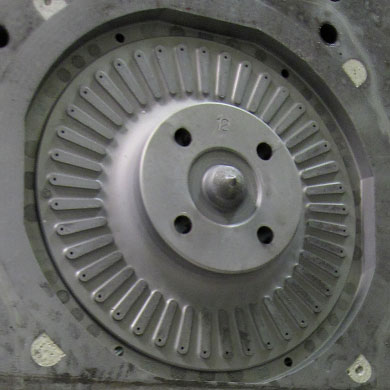 Foundry–corebox cavity for manufacturing clutch discs AFTER cleaning