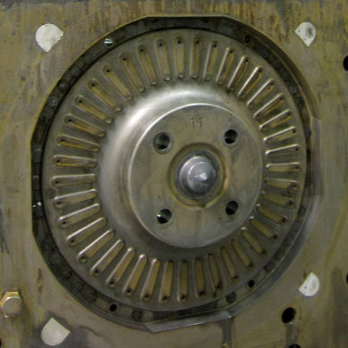 Foundry–corebox cavity for manufacturing clutch discs BEFORE cleaning