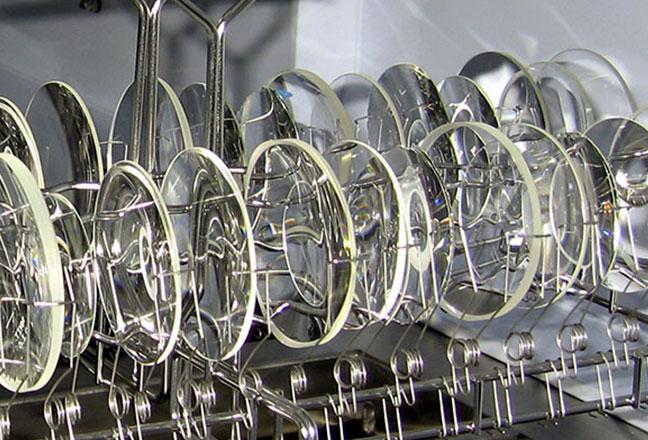 Óptica: Lentes de alto índice antes del lavado y del coating