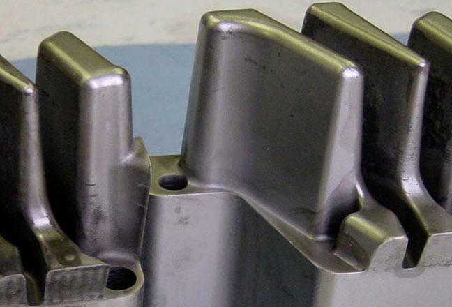 Part of an aluminum die-casting mold cavity for car parts under the hood