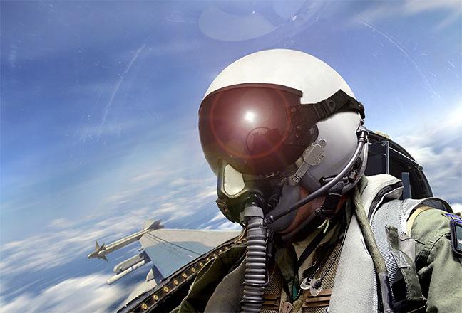 Lotnictwo - wizjery kasków (mycie i powlekanie)